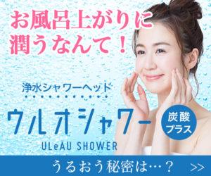 炭酸タブレットが使える浄水シャワーヘッド「ウルオシャワー」のページに行く